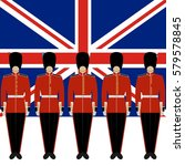 soldiers british royal guard on ...   Shutterstock .eps vector #579578845