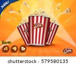 classic popcorn ads  delicious... | Shutterstock . vector #579580135