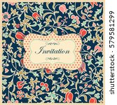 vintage invitation or wedding... | Shutterstock .eps vector #579581299