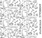 seamless pattern hand drawn... | Shutterstock .eps vector #579588049