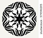 ornate doodle round rosette in...   Shutterstock . vector #579590395