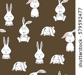 vector seamless pattern with... | Shutterstock .eps vector #579592477