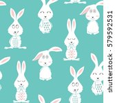 vector seamless pattern with... | Shutterstock .eps vector #579592531