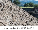 rocks sticking out on the slope ... | Shutterstock . vector #579594715