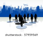 illustration of people and... | Shutterstock .eps vector #57959569