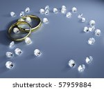 a wedding background with... | Shutterstock . vector #57959884