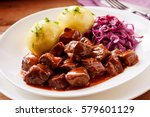 chunky beef stew with savory... | Shutterstock . vector #579601129