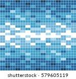 seamless mosaic vector pattern. ... | Shutterstock .eps vector #579605119