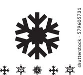 snowflake vector icon isolated. ... | Shutterstock .eps vector #579605731
