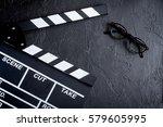 screenwriter desktop with movie ... | Shutterstock . vector #579605995