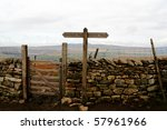 Gate In A Drystone Wall On Pen...