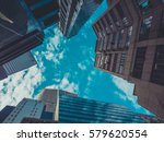 skyscraper buildings and sky... | Shutterstock . vector #579620554
