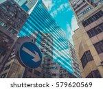skyscraper buildings and sky... | Shutterstock . vector #579620569