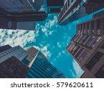 skyscraper buildings and sky... | Shutterstock . vector #579620611