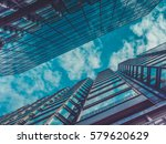 skyscraper buildings and sky... | Shutterstock . vector #579620629