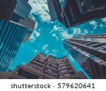 skyscraper buildings and sky... | Shutterstock . vector #579620641