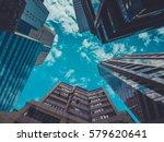 skyscraper buildings and sky... | Shutterstock . vector #579620641