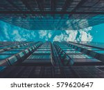 skyscraper buildings and sky... | Shutterstock . vector #579620647