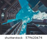 skyscraper buildings and sky... | Shutterstock . vector #579620674