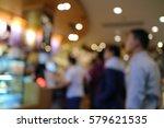 cafe restaurant interior and... | Shutterstock . vector #579621535