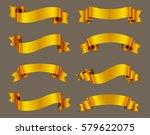 golden ribbon banners.vector... | Shutterstock .eps vector #579622075