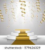 business presentation podium... | Shutterstock .eps vector #579626329