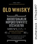 typeface. label. old whisky... | Shutterstock .eps vector #579626497