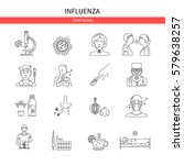 flu prevention linear set of...   Shutterstock .eps vector #579638257