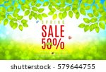 beautiful flyer for spring sale.... | Shutterstock .eps vector #579644755