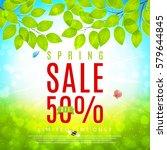 elegant spring sale banner.... | Shutterstock .eps vector #579644845
