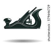 monochrome jack plane sign or...   Shutterstock .eps vector #579646729