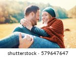 loving couple has beautiful... | Shutterstock . vector #579647647