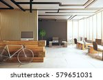 creative office interior with... | Shutterstock . vector #579651031