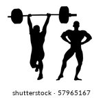 Vector Illustration Of Strong...