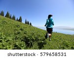 healthy young woman trail... | Shutterstock . vector #579658531