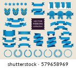 vector ribbon set. banner... | Shutterstock .eps vector #579658969