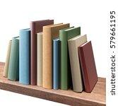 books on the shelf  isolated   Shutterstock . vector #579661195