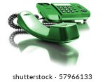 One Green Phone With Mirror...