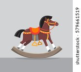 wooden rocking horse | Shutterstock .eps vector #579661519