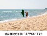 The Boy Is On The Beach