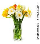the bouquet of beautiful spring ... | Shutterstock . vector #579666604