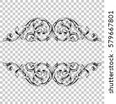 isolate vintage baroque... | Shutterstock .eps vector #579667801