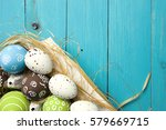 easter card. painted easter... | Shutterstock . vector #579669715