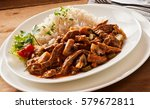 close up of beef goulash... | Shutterstock . vector #579672811