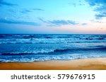 beautiful sunset on the beach | Shutterstock . vector #579676915