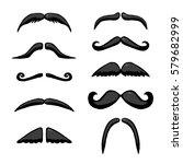 black different mustache.... | Shutterstock .eps vector #579682999
