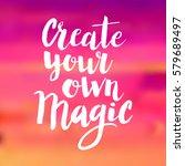 conceptual hand drawn phrase... | Shutterstock .eps vector #579689497