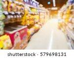 blur image of pet food shop | Shutterstock . vector #579698131