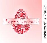 egg easter. vector illustration | Shutterstock .eps vector #579701071