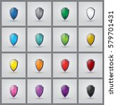 set of colorful shields. 16...   Shutterstock .eps vector #579701431
